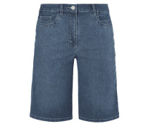 Rinsed Washed Comfort Fit Jeansbermudas