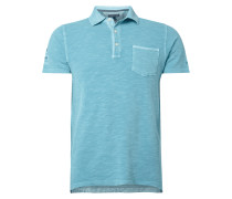 Slim Fit Poloshirt im Washed Out-Look