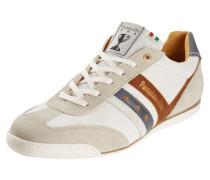 Sneaker aus Leder mit Kontrasteinsätzen