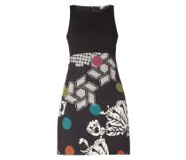 Kleid mit floralem Muster und Punkten