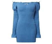 Lisa-Marie Schiffner x NA-KD Off-Shoulder-Kleid mit langen Ärmeln