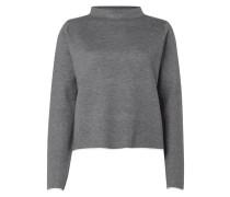 Pullover mit schmalem Stehkragen
