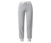 Pyjamahose mit Rippenbündchen