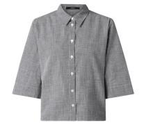 Bluse aus Baumwoll-Leinen-Mix