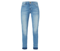 Stone Washed Skinny Fit Jeans