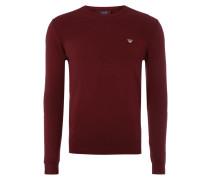 Pullover mit Einsatz aus Rippenstrick