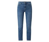 Slim Fit High Waist Jeans mit Stretch-Anteil Modell 'LiLi' - nachhaltig