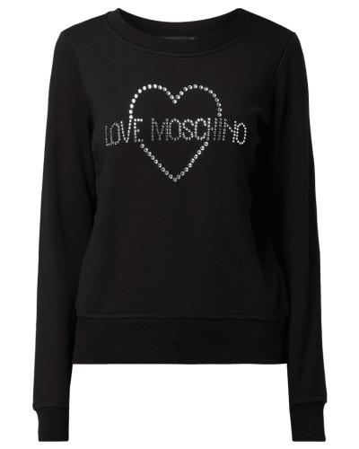 Sweatshirt mit Logo-Applikation