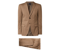 Extra Slim Fit Anzug mit Stretch-Anteil Modell 'Damon'