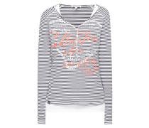 Serafino-Shirt im Double-Layer-Look