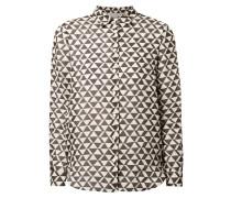 Hemdbluse mit grafischem Muster