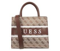 Handtasche mit Logo-Muster Modell 'Monique'