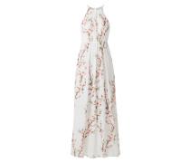 Abendkleid mit Kirschblüten-Prints
