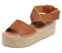 Sandalen aus echtem Leder mit Plateausohle