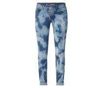 Slim Fit Jeans in Batik-Optik Modell 'Malibu'