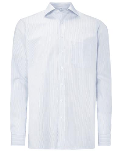 Modern Fit Hemd aus reiner Baumwolle mit extralangem Arm - bügelfrei