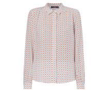Bluse aus Seide mit Allover-Muster