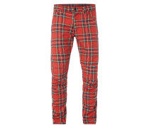 Tapered Fit 5-Pocket-Hose mit Tartan-Karo