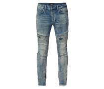 Slim Fit Jeans im Biker-Look
