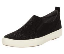 Slip-On Sneaker mit Ziersteinbesatz