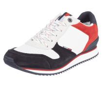 Sneaker aus Glatt- und Veloursleder