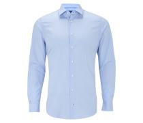 Slim Fit Business Hemd mit Kentkragen