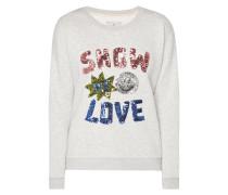 Sweatshirt mit Message aus Pailletten