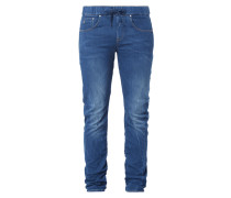 Stone Washed Boyfriend Fit 5-Pocket-Jeans