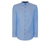 Slim Fit Business-Hemd aus Natté