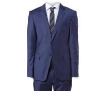 Anzug mit 2-Knopf-Sakko und feiner Gitter-Struktur