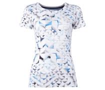 T-Shirt mit grafischem Muster - fein gerippt