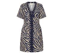 Kleid aus Leinen mit Zebramuster