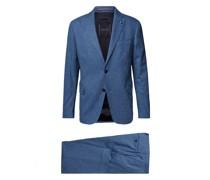 Slim Fit Anzug mit Viskose- und Woll-Anteil