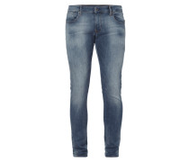 Double Stone Washed Super Slim Fit Jeans