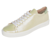 Sneaker aus Leder in changierender Optik