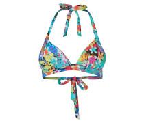 Bikini-Oberteil mit tropischem Muster