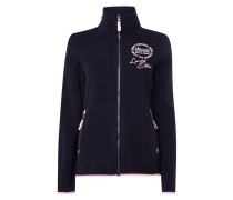 Fleecejacke mit Logo-Prints