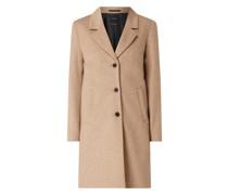 Taillierter Mantel mit Reverskragen