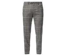 Super Slim Fit Anzug-Hose mit Karo-Dessin