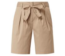 Shorts mit Paperbag-Bund Modell 'Milla'