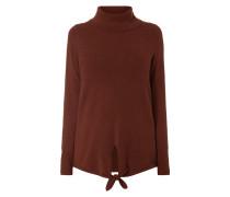 Rollkragen-Pullover mit Saum zum Binden