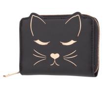 Geldbörse aus Leder im Katzen-Design