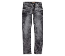 Slim Fit Jeans im Acid Washed-Look