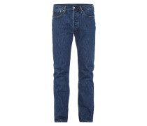 One Washed Jeans mit Knopfleiste