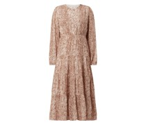Kleid mit Allover-Muster Modell 'Cameron'