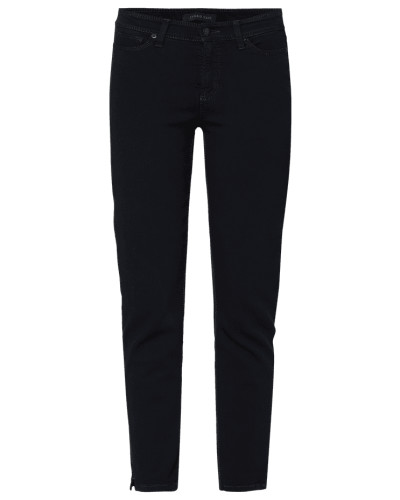Cropped Slim Fit Jeans mit Label-Patch