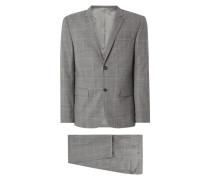 Fitted Anzug aus Wolle mit 2-Knopf-Sakko