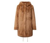 Mantel aus Kunstfell