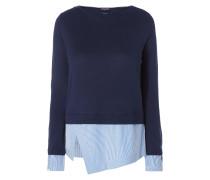 Pullover mit Kontrastbesatz