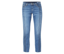 Stone Washed Girlfriend Jeans
